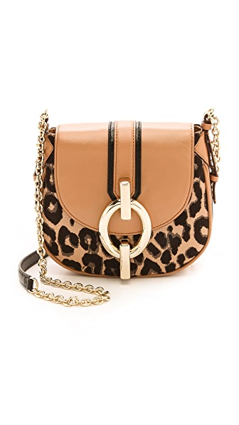 Diane von Furstenberg Sutra Mini Leopard Jacquard Cross Body Bag
