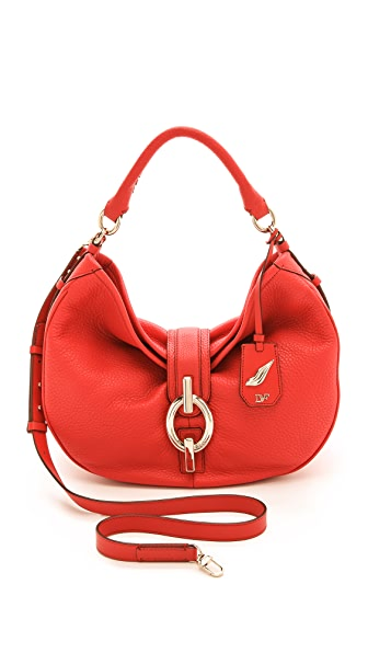 Diane von Furstenberg Sutra Hobo Deergrain Leather Bag