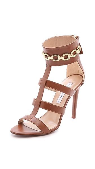 Diane von Furstenberg Uma Chain Trim Sandals