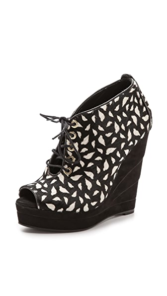 Diane von Furstenberg Payton Lips Lace Up Booties