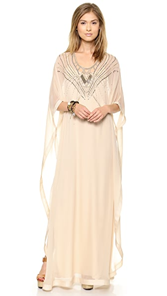 Diane von Furstenberg Clare Beaded Caftan Maxi Dress