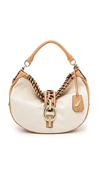 Diane von Furstenberg Sutra Hobo in Laced Canvas