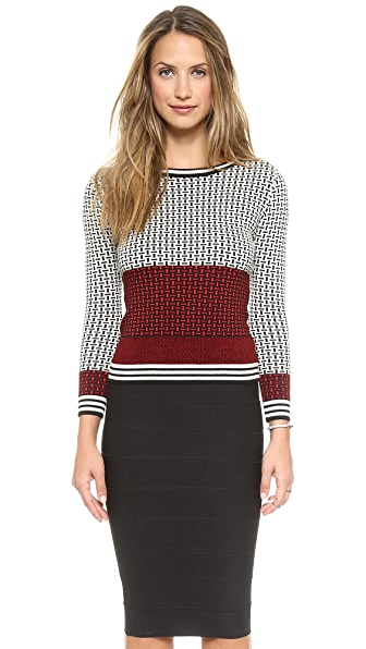 Diane von Furstenberg Microstitch Sweater