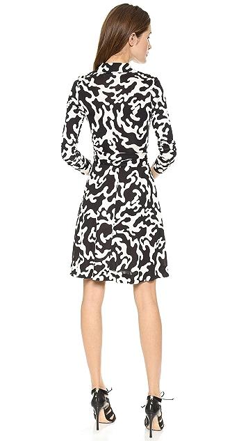 Diane von Furstenberg Puzzle Wrap Dress