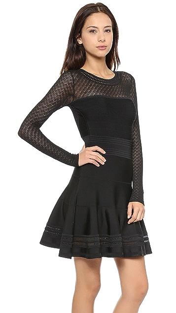 Diane von Furstenberg Long Sleeve Flare Dress