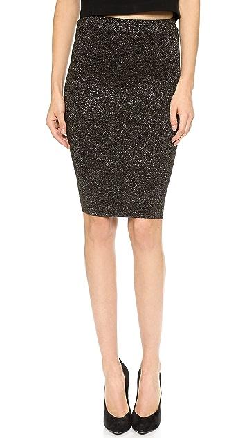Diane von Furstenberg Metallic Pencil Skirt
