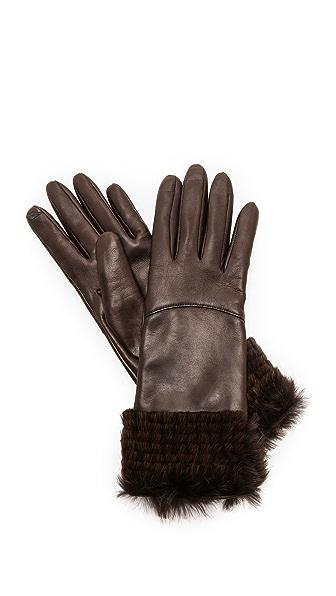 Diane von Furstenberg Fur Cuff Gloves