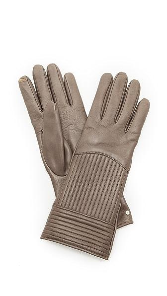 Diane von Furstenberg Rail Quilt Gloves
