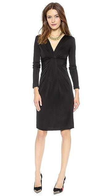 Diane von Furstenberg Long Sleeve V Neck Dress