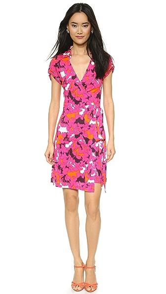 Kupi Diane von Furstenberg online i prodaja Diane Von Furstenberg Jilda Two Wrap Dress Eden Garden Small haljinu online