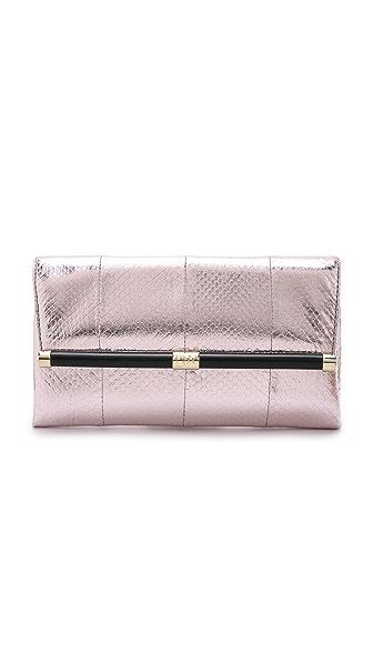 Diane Von Furstenberg 440 Metallic Envelope Clutch - Pink Ombre