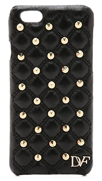 Diane von Furstenberg Leather Stud Quilted iPhone 6 / 6S Case