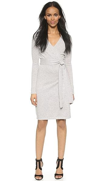 Kupi Diane von Furstenberg online i prodaja Diane Von Furstenberg Linda Wrap Sweater Dress Grey haljinu online