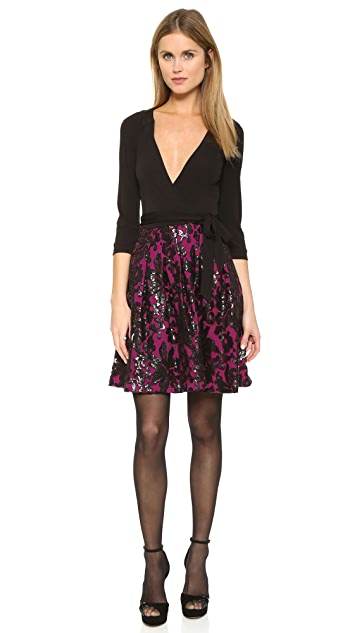 Diane von Furstenberg Jewel Wrap Dress