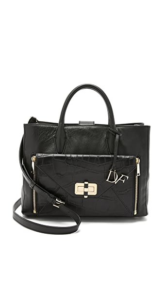 Diane von Furstenberg 440 Gallery Large Secret Agent Tote - Black
