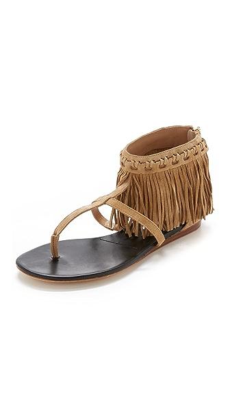 Diane Von Furstenberg Paloma Suede Sandals - Tan