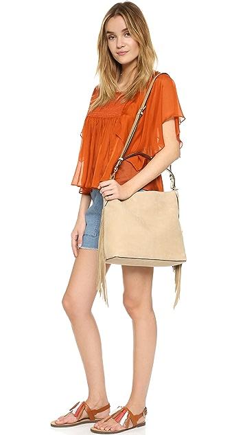 Diane von Furstenberg Voyage Boho Fringe Hobo Bag