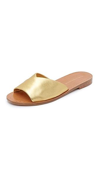 Diane von Furstenberg Caserta Slides - Gold