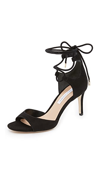 Diane von Furstenberg Rimini Wrap Sandals In Black