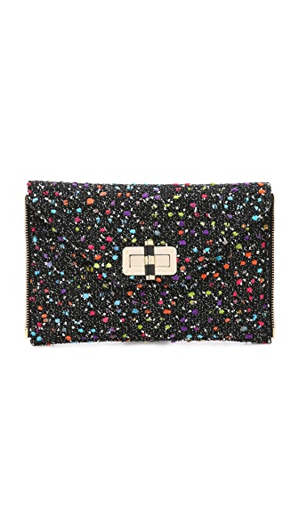 Diane Von Furstenberg 440 Gallery Zip Out Confetti Clutch - Black/Multi