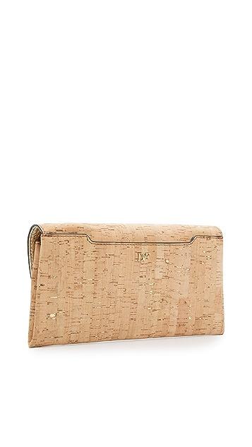 Diane von Furstenberg 440 Cork Envelope Clutch