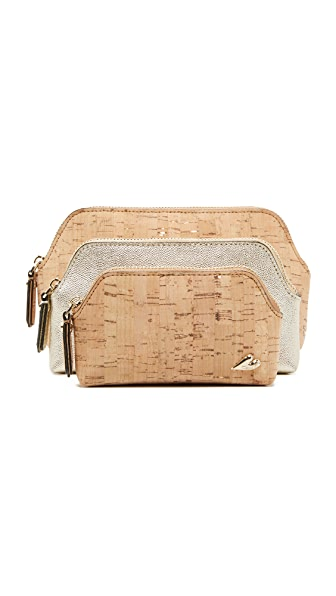 Diane von Furstenberg Love Triplet Cork Case Set - Natural/Gold