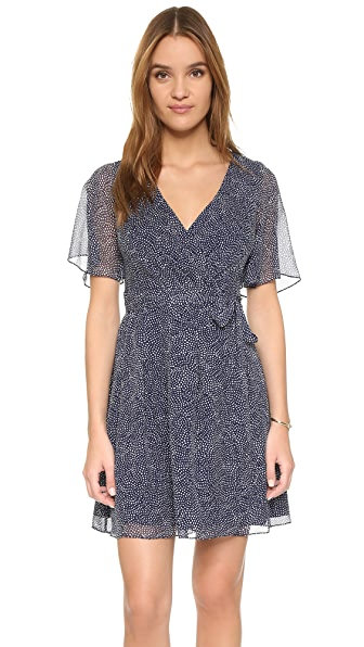 Diane Von Furstenberg Katina Wrap Dress - Dream Dot Midnight