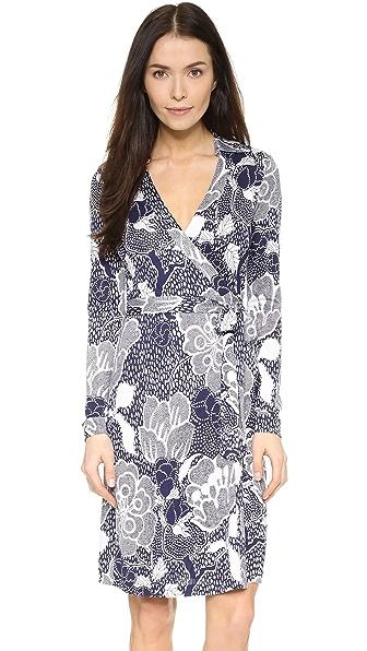 Diane Von Furstenberg New Jeanne Two Dress - Flower Power Midnight