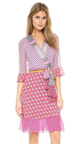 Diane Von Furstenberg Nieves Wrap Dress - Zen Scarf Multi