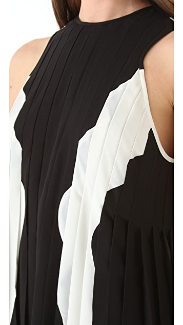 Dion Lee Line Inset Pleat Dress