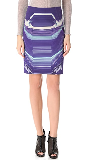 Dion Lee Moon Mask Pencil Skirt