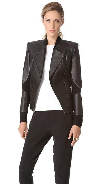Dion Lee Filter Leather Biker Jacket