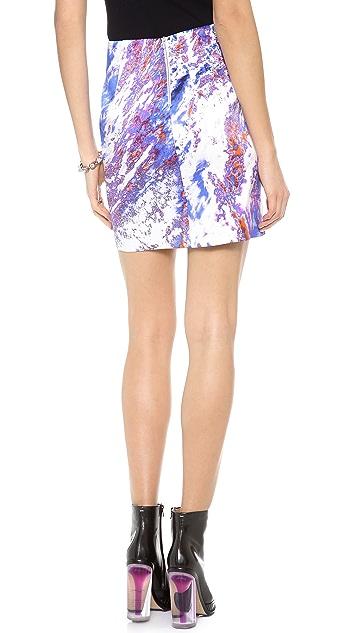 Dion Lee Printed Satin Skirt