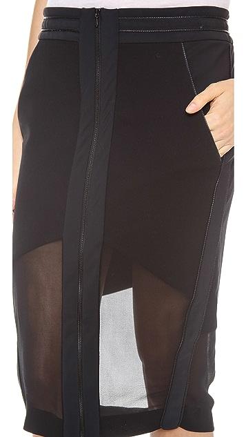 Dion Lee Free Zip Skirt
