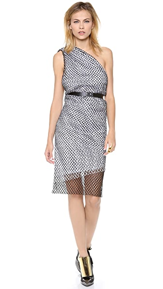 Dion Lee Moire Imbalance Dress
