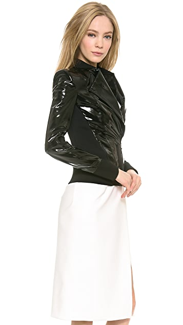 Dion Lee 3D Patent Leather Filter Jacket