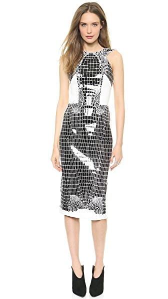 Dion Lee Croc Thermal Backless Dress
