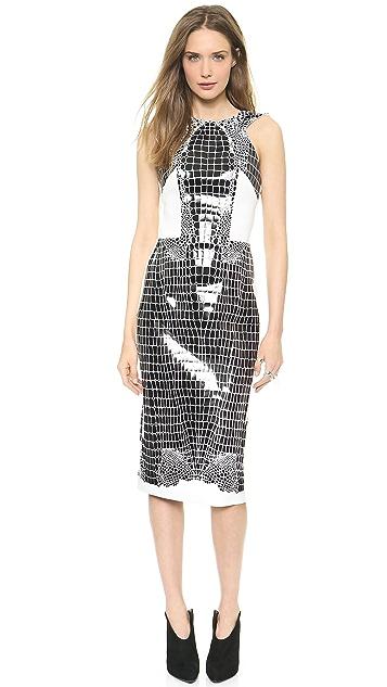 Dion Lee Croc Thermal Backless Dress