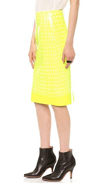 Dion Lee Croc Thermal Skirt