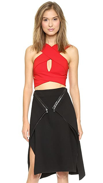 Dion Lee Cutaway Crop Top