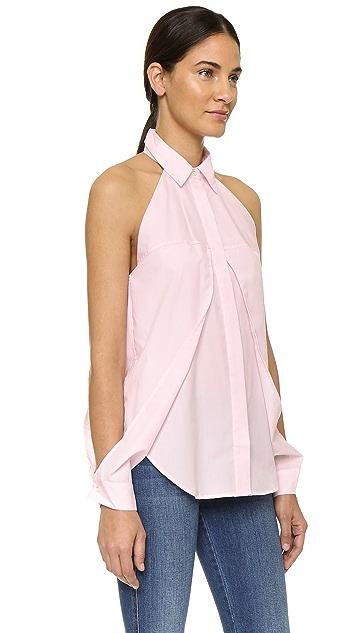 Dion Lee Line II Sleeve Release Cotton Shirt