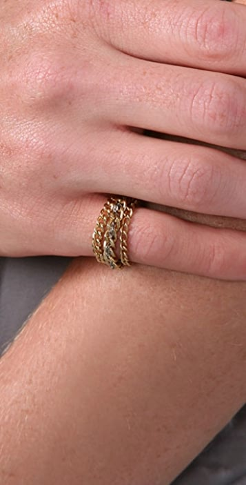 Dirty Librarian Chains Trilogy Ring Set