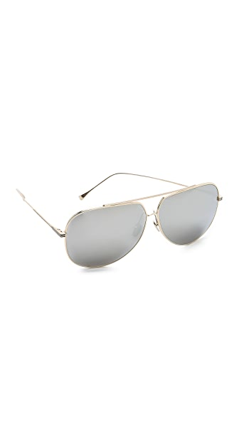 DITA Condor Sunglasses In Gold/Silver Mirror