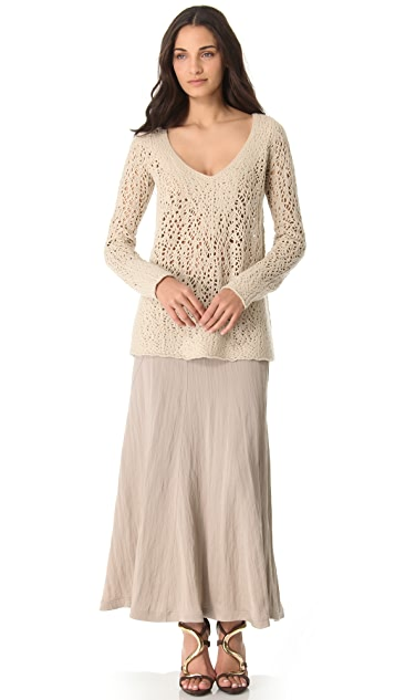 Donna Karan New York Floor Length Gored Skirt