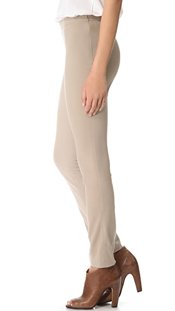 Donna Karan New York Slubbed Jersey Leggings