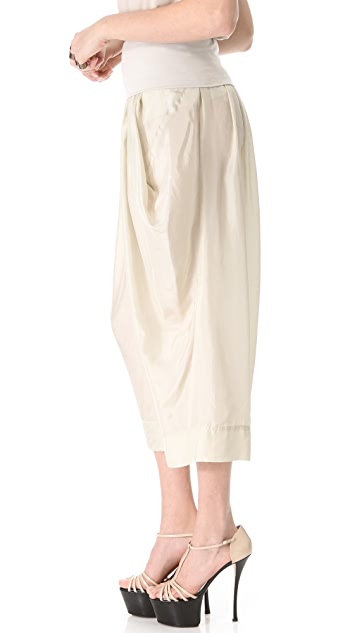Donna Karan New York Full Leg Pants with Draped Pockets