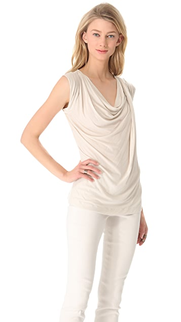 Donna Karan New York Sleeveless Draped Top