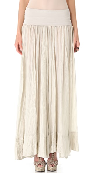 Donna Karan New York Fold Over Broomstick Skirt