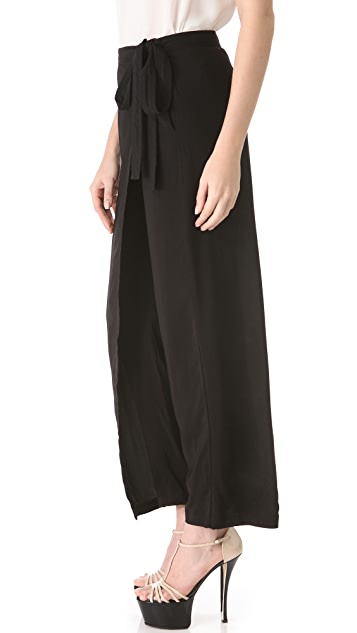 Donna Karan New York Wrap Culotte Pants