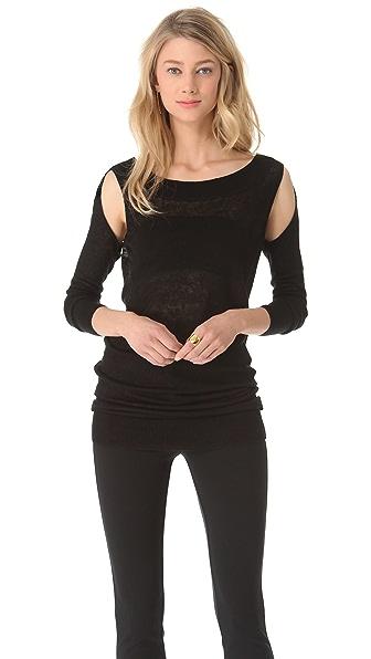 Donna Karan New York Semi Cold Shoulder Tunic